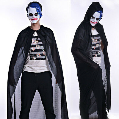 Adult Turtle Neck Bronzing Cloak Coat Wicca Robe Halloween Party Ghost clothes L