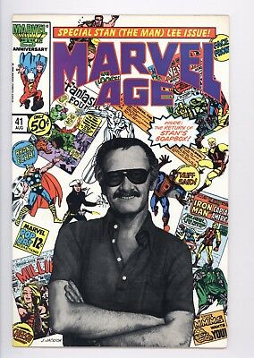 Marvel Age #41 Vol 1 PERFECT High Grade Stan Lee Photo Cover