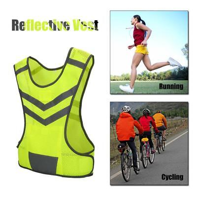 Adjustable High Visibility Reflective Vest Safety Sports Cycling Running Vest
