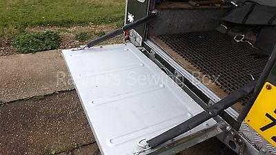 Dropdown Rear Tailgate 4 Black Chain Sleeves Covers Land Rover Series 2 2A 3 NEW