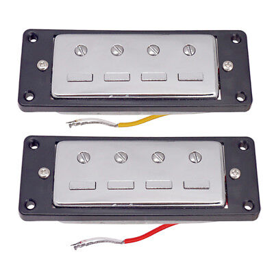 Mini Humbucker Pickup Pickups Bridge Neck Set for 4 String Electric Bass DIY