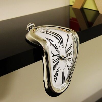 1PC Retro Vintage Distorted Melting Clock Wall Clock Home Bedroom Decor NE8