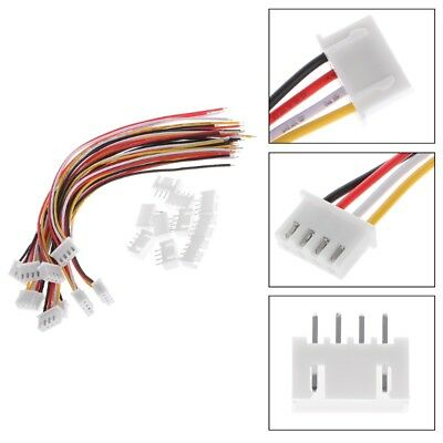 10Pcs 3S JST-XH Connector Adapter Plug 4 Pin Servo Extension Cord Cable 15CM