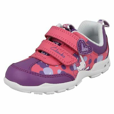Girls Clarks First Casual Trainers Brite Bea