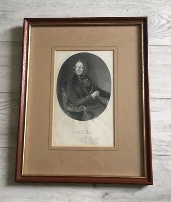 Old Antique 19th Century Engraving Of Charles Dickens