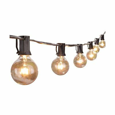 Outdoor String Lights,25Ft G40 Globe Light String with 28 Clear Bulbs-Indoor/...