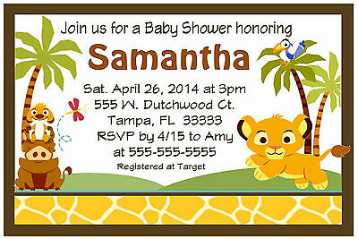 Baby Simba Lion King Baby Shower Invitations Design 8 99 Picclick