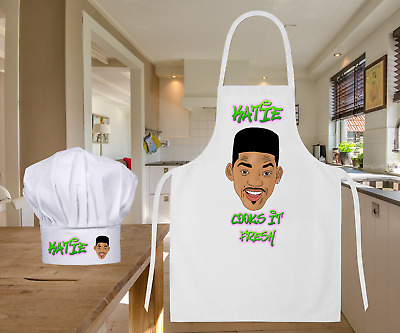 Personalised Fresh Prince Will Smith Baking Cooking Apron Ideal Birthday Gift
