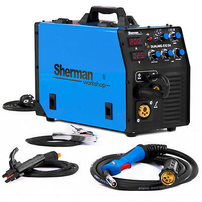 MIG Welder Welding Machine Inverter Professional 200 AMP SHERMAN DUAL 210 S4