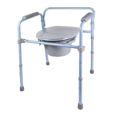 Carex - Folding Commode -Portable Toilet - Adults & Bedside Commode Chair