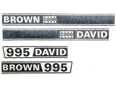 Decal Set Fits David Brown 995 Tractors.