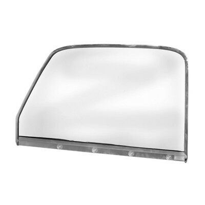 47 - 50 Chevy Pickup Truck Door Window Glass With Chrome Frame - Right Side