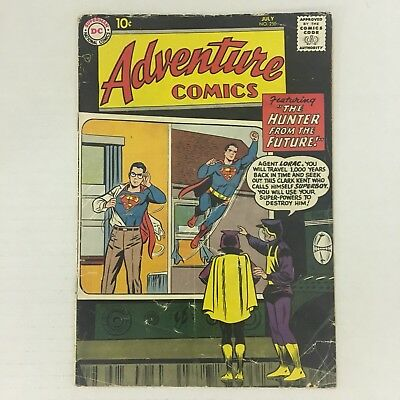 ADVENTURE COMICS #250 1st Silver Age Green Arrow DC Comics 1958 Jack Kirby G/VG!