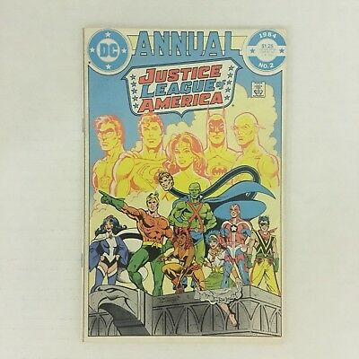 JUSTICE LEAGUE OF AMERICA ANNUAL #2 1st Appearance Vibe Gypsy Steel DC 1984 VF!!