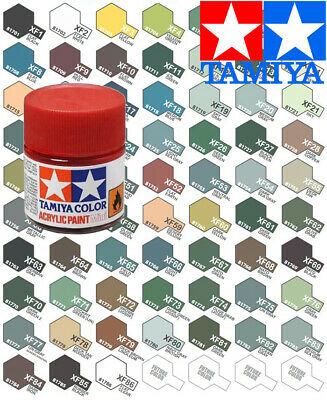 Tamiya Acrylic Paint Pot 10ml XF-1 to XF-28 Choose your colour - Model Paint ...