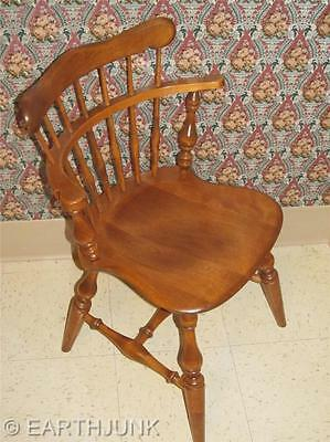 Ethan Allen Comb Back Side Chair Heirloom Nutmeg Maple 10 6040 Early  American