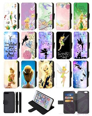 brand new 14bb8 077b4 TINKERBELL FAIRY DISNEY Flip Phone Case Cover Wallet Galaxy 5 6 7 8 9 Plus  Comp