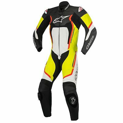 Alpinestars Motegi V2 1 Pcs Leathers Black/White/Yellow Fluo/Red Fluo Eur 52