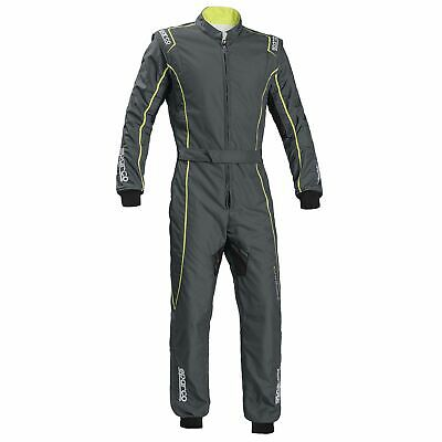 Sparco Groove KS-3 Kart Suit Grey/Fluro Yellow Size - XL 002334GRSGF4XL