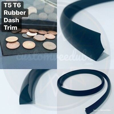 VW T5 T5.1 T6 Dash Trim Seal For VW Transporter Solid Black Rubber