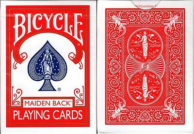 Marked Bicycle Maiden Back Playing Cards Red Trick Poker Deck USPCC Custom