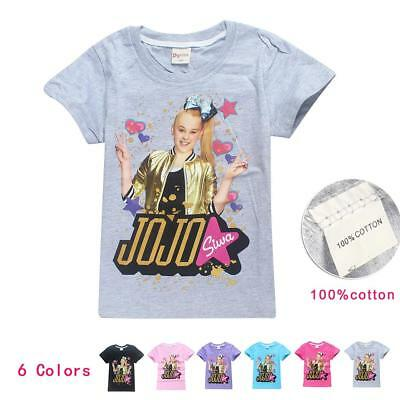 JoJo Siwa Kids T-shirt  Girls Short Sleeved Clothes Tee Top - Size 3 -10