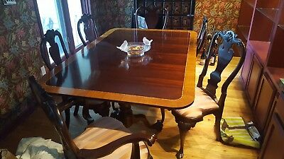 The Best STICKLEY Cherry 11pc Antique Dining Room Set Table 6 Chairs 4 Leaves!