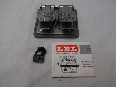 LPL CEMENT FILM SPLICER (Super 8 Regular 8 & 16mm) BOXED 3-WAY WITH MANUAL.