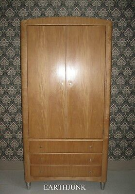 Ethan Allen Radius Armoire 20th Century Industrial Modern Style 12 9470 USA Made