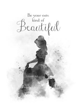 Belle Quote Art Print Beauty And The Beast Princess Nursery Wall