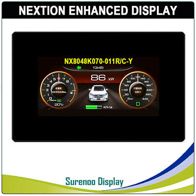 "7.0"" Nextion Enhanced HMI Resistive & Capacitive Touch LCD Module w/ Enclosure"