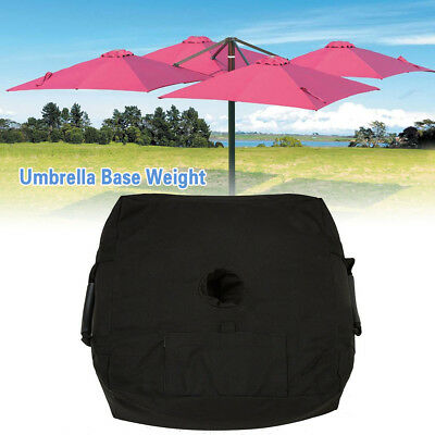 "18"" Detachable Umbrella Base Weight Sand Bags Ergonomic Stand Add On Weight CA"