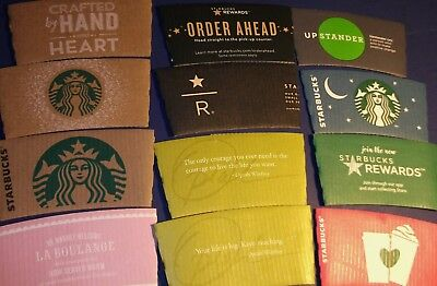 STARBUCKS Limited Coffee Cup PAPER SLEEVE Christmas Milano Seattle Moon Heart