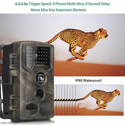1080P HD Hunting Trail Camera PIR IR Motion Scouting Security Wildlife Camera ay