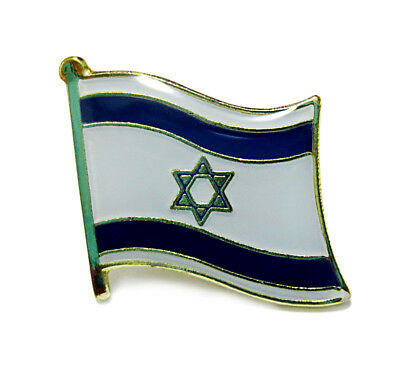 Israel National Flag Metal Lapel Pin Flag Pin