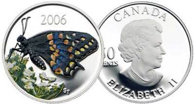 Canada 2006 Short-Tailed Swallowtail Butterfly 50 Cents Color Silver Proof