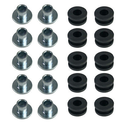 10pcs Set Motorcycle Rubber Grommets Bolt For Honda Yamaha Suzuki Kawasaki Black