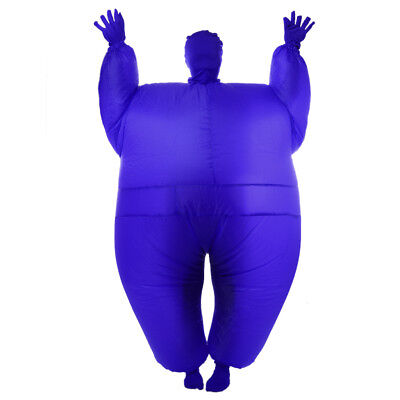 Inflatable Fat Chub Costume Funny Fancy Dress Party Costume - Blue