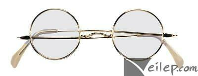 Forum Cosplay Santa Claus Round Frame Eye Costume Glasses, Gold, One-Size