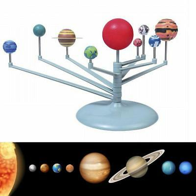 Nine Planets Model Set Plastic Solar System Dismounting Educational DIY Toy Gift
