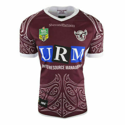 Manly Sea Eagles NRL 2018 ISC Maori Jersey Adults Size S-4XL & Kids Sizes 6-14!
