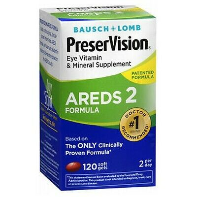 Bausch & Lomb PreserVision AREDS 2 Formula 120 Softgels