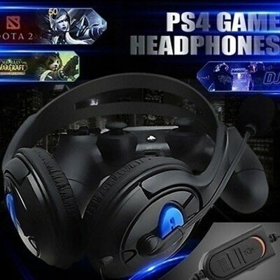New Wired Gaming Headset Headphones with Microphone For PS4, PS4 Slim, PS4 Pro