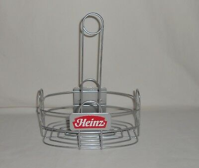 ROUND METAL TABLETOP Restaurant Condiment Menu Holder Caddy - Table top caddies for restaurants