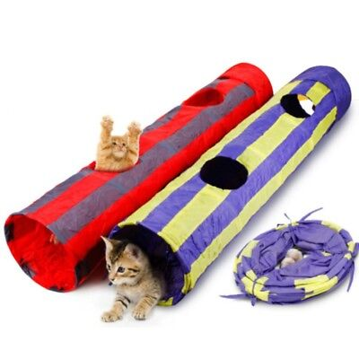 Funny Pet Cat Tunnel Outdoor Game Playing Toy Foldable Kitten Rabbit Playing Toy