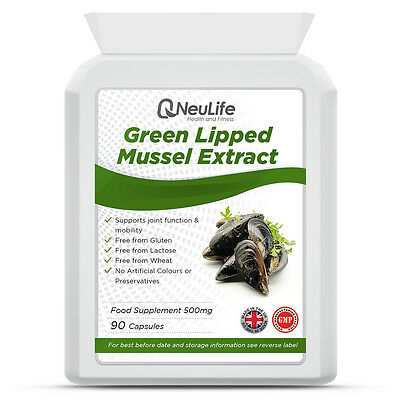 Green Lipped Mussel Capsules 500mg x 90 Capsules | 100% Pure, High Quality