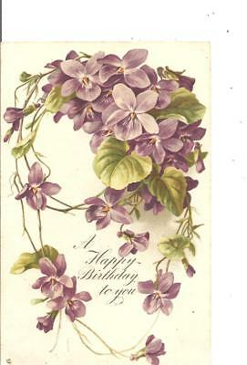 lovely vintage greetings tuck s postcard flowers a happy birthday to