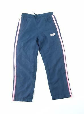 Lonsdale Girls Blue Striped Tracksuit Bottoms Age 7-8