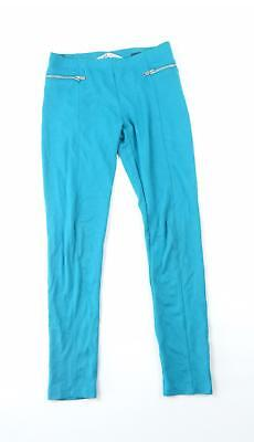 H&M Girls Turquoise Plain Trousers Age 12-13