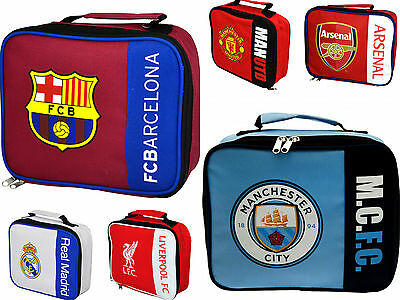 Official Football Club Childrens School Boys Girls Kids Insulated Lunch Box Bag